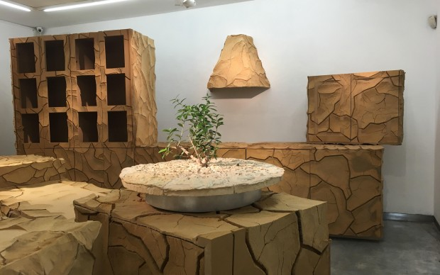 Gal Weinstein, Untitled, 2016, installation, wood, mdf, variable dimensions, Courtesy Galleria Riccardo Crespi and the artist