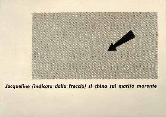 Emilio Isgrò, Poesia Jacqueline, 1965