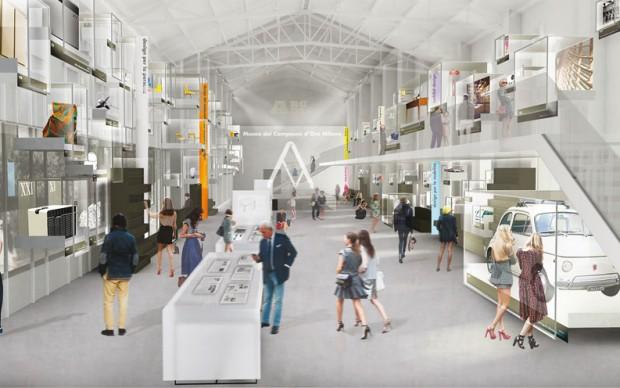 Render Museo del Compasso d'Oro ADI Milano
