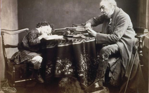 Oscar Gustave Rejlander Titel: Lesson Datum: 1860