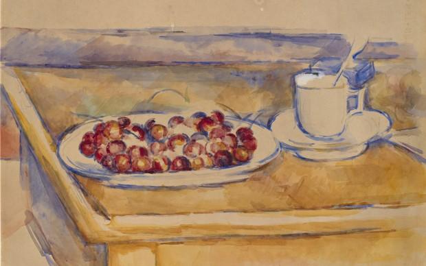 Paul Cézanne, Tasse et plat de cerises, circa 1890