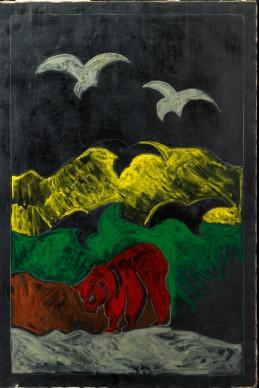 Tanto Festa, Paesaggio africano, 1975, , Collezione privata, Firenze, courtesy Tornabuoni Arte
