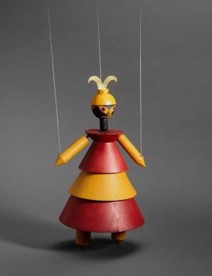 Sophie Taeuber Arp for the Swiss Werkbund Exhibition, puppet Dr. Komplex for Carlo Gozzi's König Hirsch, 1918, Applied Arts Collection, Museum für Gestaltung