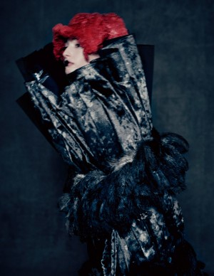 Rei Kawakubo for Comme des Garçons, Blue Witch, spring/summer 2016; Courtesy of Comme des Garçons. Photograph by © Paolo Roversi; Courtesy of The Metropolitan Museum of Art