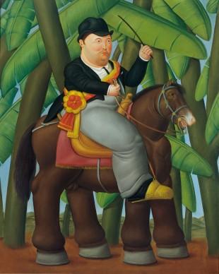 Fernando Botero, Il presidente, La first lady (dittico), 1989