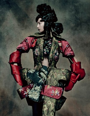 Rei Kawakubo for Comme des Garçons, 18th Century Punk, autumn/winter 2016–17; Courtesy of Comme des Garçons. Photograph by © Paolo Roversi; Courtesy of The Metropolitan Museum of Art