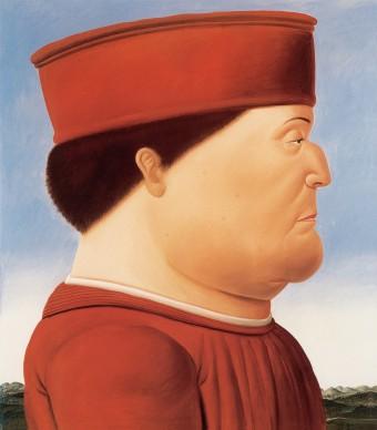 Fernando Botero, Piero della Francesca (dittico), 1998