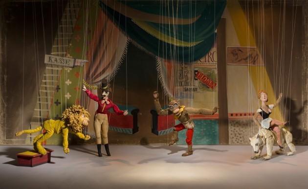 Composed scene from Zirkus Juhu oder Tiermensch und Menschentier: Blonda on Eisbär; Mähn, die Löwin; Jaffa, der Orang-Utan; Tropf, der Zirkusdirektor; Applied Arts Collection, Museum für Gestaltung