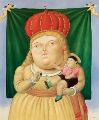 Fernando Botero, Nostra Signora di Colombia, 1992