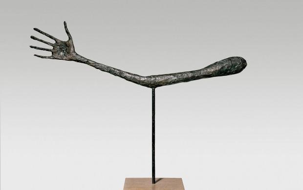 Alberto Giacometti The Hand 1947 Bronze (cast 1947-49) 57 x 72 x 3.5 cm Kunsthaus Zürich, Alberto Giacometti Stiftung © Alberto Giacometti Estate, ACS/DACS, 2017