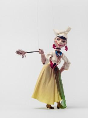 Pierre Gauchat for the Zürcher Marionetten, puppet Serpina for Giovanni Battista Pergolesi's La Serva Padrona, 1945, Applied Arts Collection, Museum für Gestaltung