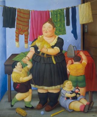 Fernando Botero, La vedova, 1997