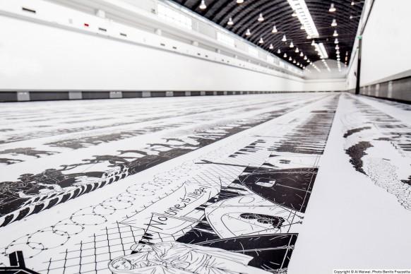Ai Weiwei, Odyssey, 2017, exhibition view, ZAC, Palermo © Ai Weiwei. Photo Benito Frazzetta