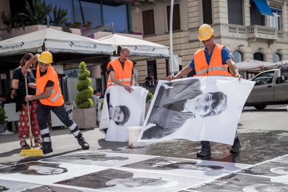 Sky Arte Festival, 5-7 maggio, Napoli - intervento di arte pubblica partecipata Inside Out – Napoli: il rinascimento parte da qui, di JR