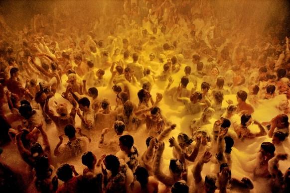 Soap suds party. 1991. Ibiza, Spain © Credits: David Alan Harvey