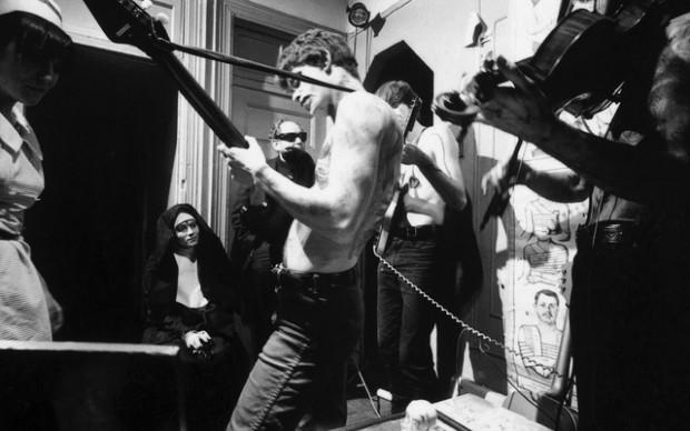 "Margaret Boyce Cam, Barbara Rubin, unknown, Lou Reed, Sterling Morrison and John Cale, ""Venus in Furs"" November 1965 at 450 Grand Street, NYC. ©Adam Ritchie Photography, www.adam-ritchie-photography.co.uk"