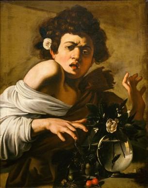 Michelangelo Merisi, detto Il Caravaggio, Ragazzo morso da un ramarro, 1596-1597 circa, Olio su tela, cm. 65,8 x 52,3