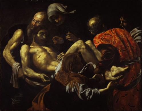 Giovan Battista Caracciolo, detto Battistello, Cristo morto trasportato al sepolcro, primo quarto del XVII secolo, Olio su tela, cm. 128 x 164