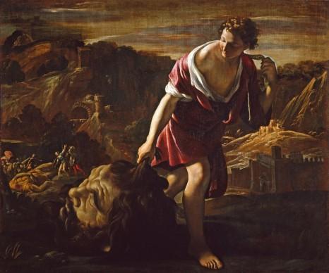 Giovanni Lanfranco, Davide con la testa di Golia, 1617 circa, Olio su tela, cm. 127,5 x 152,5