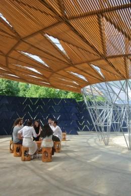 Serpentine Pavilion 2017, designed by Francis Kéré. Serpentine Gallery, London (23 June – 8 October 2017) © Kéré Architecture, Photo by Marta Atzeni per Artribune