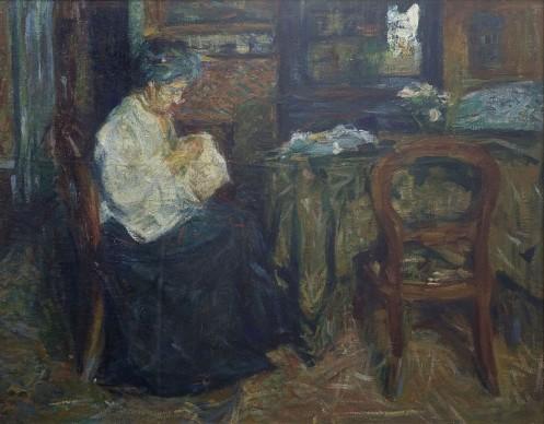Sironi, La madre che cuce, 1905-6