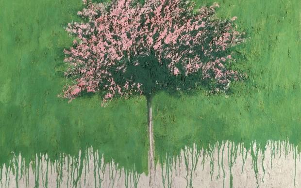 Carlo Mattioli, Paesaggio, 1980 olio su tela, 150x120 cm, collezione privata