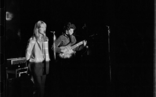 The Velvet Underground Perform, 1966, Nico & Lou Reed perform at the Filmmakers Cinematheque, New York, New York, February 8, 1966 © Estate of Fred W. McDarrah