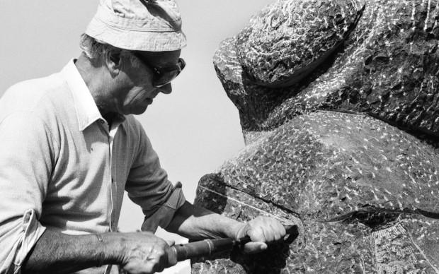 Aurelio Amendola, ritratto di Marino Marini, Forte dei Marmi, 1973