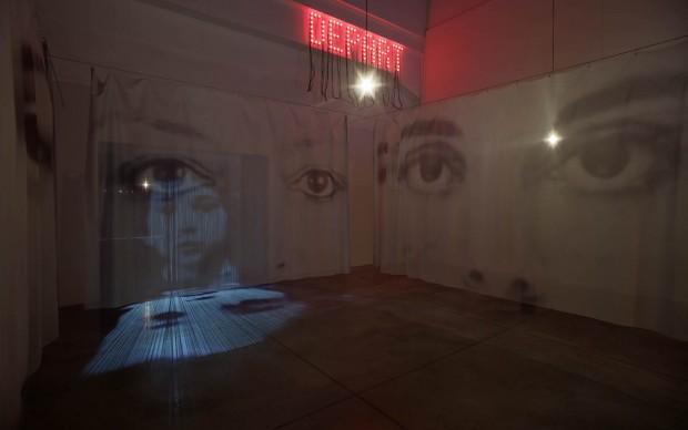 Christian Boltanski, Anime. Di luogo in luogo, veduta di allestimento presso / installation view at MAMbo – Museo d'Arte Moderna di Bologna, 2017. Photo credit Matteo Monti