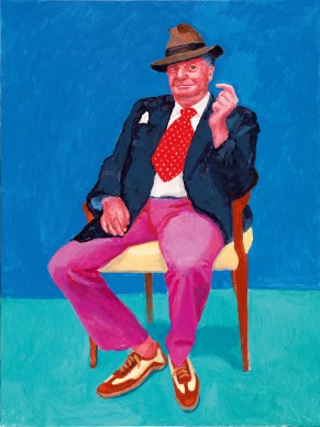 David Hockney, Barry Humphries, 26th, 27th, 28th March, 2015. Acrylic on canvas, 121.9 x 91.4 cm © David Hockney; Photo credit: Richard Schmidt