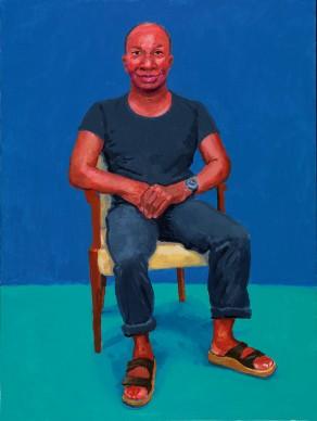 David Hockney, Earl Simms, 29th February, 1st, 2nd March 2016. Acrylic on canvas, 121.9 x 91.4 cm © David Hockney; Photo credit: Richard Schmidt