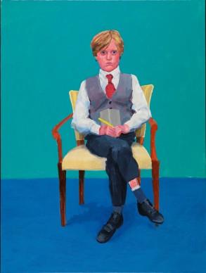 David Hockney, Rufus Hale, 23rd, 24th, 25th November 2015. Acrylic on canvas, 121.9 x 91.4 cm © David Hockney; Photo credit: Richard Schmidt