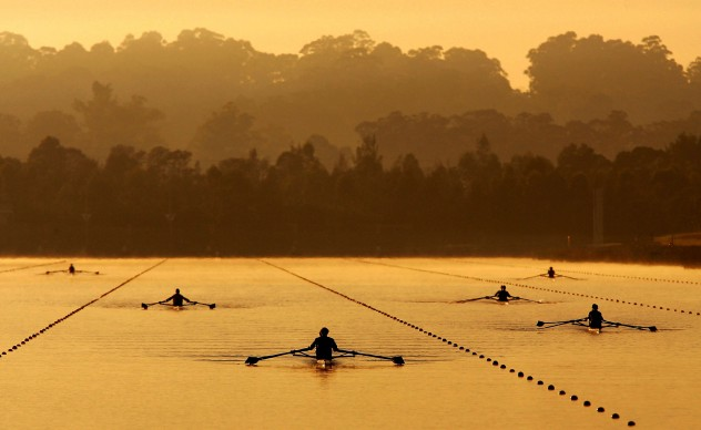 MORNING ROW, Australian Rowing Selection Trials, Aprile 2007, Penrith, Australia © Credits: Ezra Shaw / Getty Images