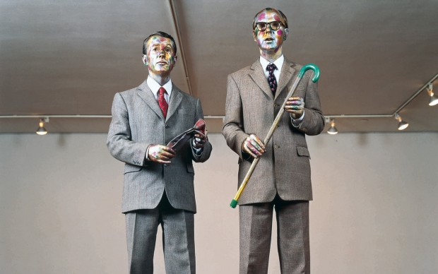 Gilbert & George, The Singing Sculpture, 1991, Sonnabend Gallery, 420 West Broadway, New York