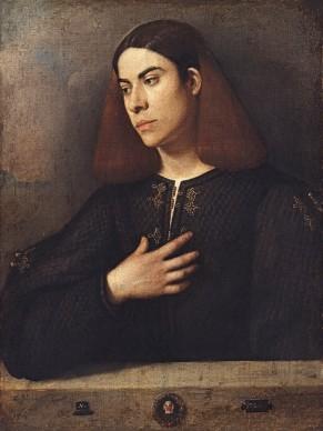 Giorgione, Ritratto di giovane, c. 1500. Budapest, Szépmüvészeti Múzeum