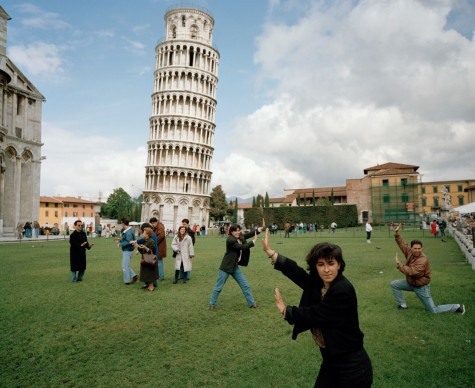 The Leaning Tower of Pisa, Italy, 1990. From 'Small World'. © Martin Parr / Magnum Photos