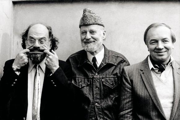 Maria Mulas, Allen Ginsberg, Lawrence Ferlinghetti, Andrej Voznesenskij, 1982