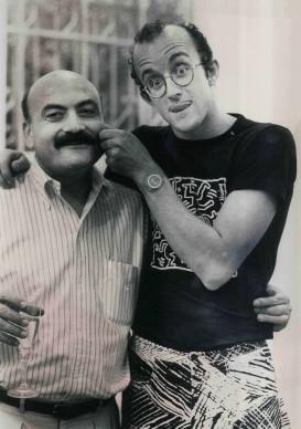 Maria Mulas, Salvatore Ala e Keith Haring, 1986