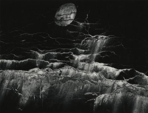 Minor White, Moon and Wall Encrustation, Pultneyville, NY, May 10, 1964