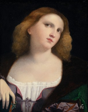 Palma il vecchio, Ritratto di giovane donna, 1513-1514. Lione, Musée des Beaux-Arts