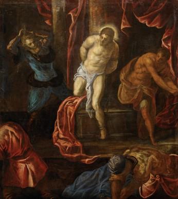 Tintoretto, Flagellazione di Cristo, c. 1585 – 1590. Vienna, Kunsthistorisches Museum