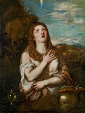 Tiziano Vecellio, Maria Maddalena penitente, 1540-1546. Collezione privata