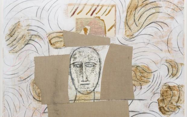 Mimmo Paladino, Pezzi di Saio, tecnica mista su carta, 2010, 72 x 103 cm