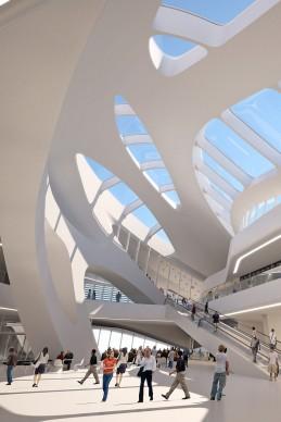 Jesolo Magica Retail Centre, 2009-2016 in costruzione, Render Courtesy Zaha Hadid Architects