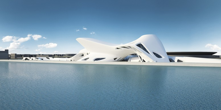Nuragic And Contemporary Art Museum (Cagliari) 2006 - TBC Render, Courtesy Zaha Hadid Architects