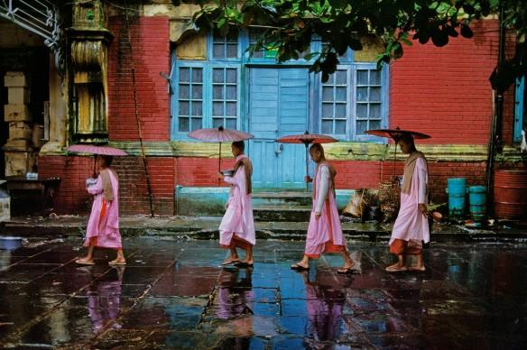 Procession of Nuns, Rangoon, Burma, 1994 © Steve McCurry