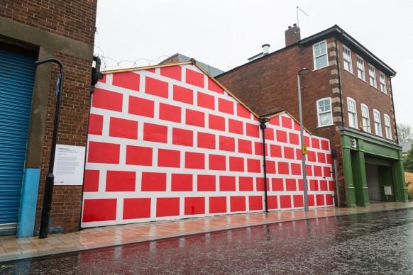 Richard Woods, Untitled, parte della mostra Paper City, Hull - Gran Bretagna, 30 giugno - 9 luglio 2017
