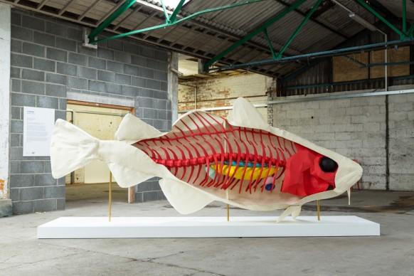 Lazarian, Local Fish, parte della mostra Paper City, Hull - Gran Bretagna, 30 giugno - 9 luglio 2017