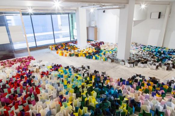 Jacqueline Poncelet, Island Life, parte della mostra Paper City, Hull - Gran Bretagna, 30 giugno - 9 luglio 2017