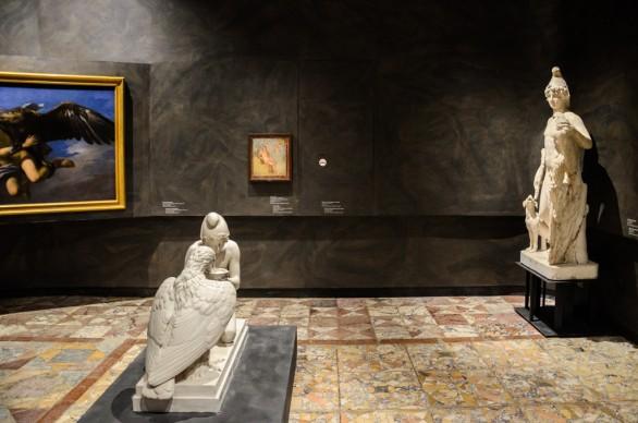 Amori Divini, Museo Archeologico Nazionale di Napoli, 2017, progetto by stARTT, photo Gabriele Lungarella